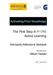 Activating Prior Knowledge Participant's Workbook