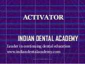Activator1 /Orthodontic courses Tra...
