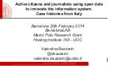 Active citizens and journalists usi...