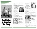 Activities For Families   Web Version
