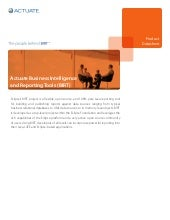 Actuate Business Intelligence and R...