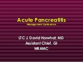 Acute Pancreatitis Management Confe...