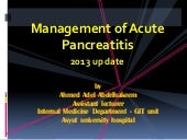 Acute pancreatitis 2013 update