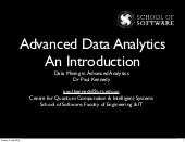 25 June 2013 - Advanced Data Analyt...