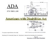 ADA dimensions  Fall 2009