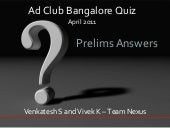 Ad Club Bangalore Apr 2011 Prelims ...