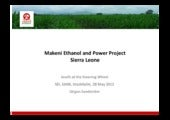 Makeni Ethanol and Power Project, S...