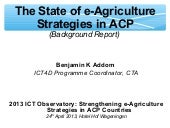 Background document on e-agricultur...