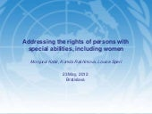 Addressing the rights of persons wi...