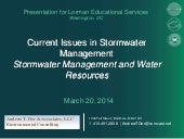 Current Issues in Stormwater Manage...