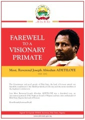 Farewell to a Visionary Primate