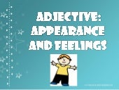 Adj appearance and emotions