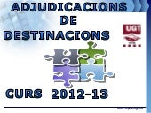Adjudicacions Interins 2013
