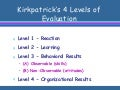 Adlt 606 class 11 kirkpatrick's evaluation model short version