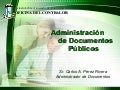 Administracion De Documentos Publicos Of Contralor