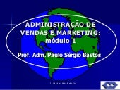 Administração de vendas e marketing...