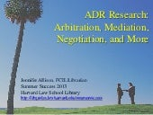 ADR Research - Summer Success