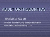 Adult orthodontics /certified fixed...