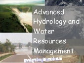 Advanced hydrology & water resource...