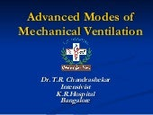 Advanced modes of Mechanical Ventilation-Do we need them?