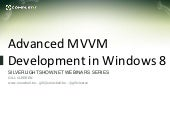 Advanced MVVM in Windows 8