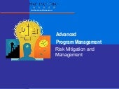 Advanced program management   risk ...