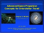 Advanced space propulsion concepts ...