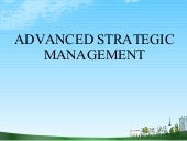 Advanced strategic management @ bec...