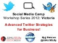 Advanced twitter strategies for business