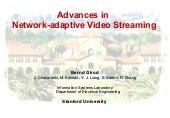 Advances in Network-adaptive Video ...