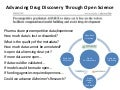 Advancing Drug Discovery through Open Science