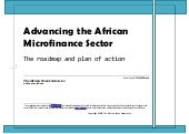 Advancing the african microfinance ...