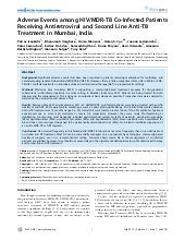 Adverse Events among HIV/MDR-TB Co-...