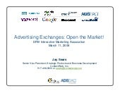 Advertising Exchanges - Open the ma...