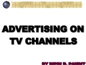 Advertising On Tv Channels
