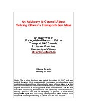 Advisory To Ottawa Council on Solvi...