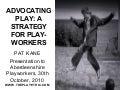 Pat Kane: Advocating play - a strategy for playworkers