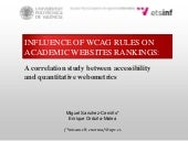 Influence of WCAG rules on academic...