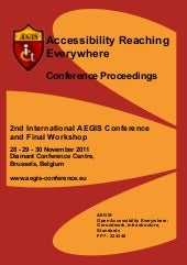 Conference proceedings 2011 AEGIS I...