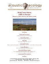 Wind Farm Noise: 2009 in Review, re...
