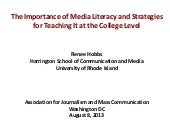 The Importance of Media Literacy an...