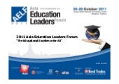 Asia Education Leaders Forum Program