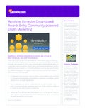 Aerohive Forrester Groundswell Awards Entry Community-Powered depth Marketing