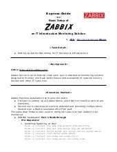 An Express Guide ~ Zabbix for IT Mo...