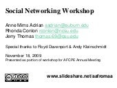 ACFPE Social Networking Workshop