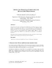 Affect of parallel computing on mul...