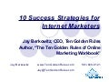 10 Success Strategies for Internet Marketers