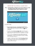 AffiliateHD Webinar Replay Summary by Jason Fladlien