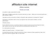 Affiliation site internet