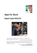 Apps for Good: Impact report 2012
